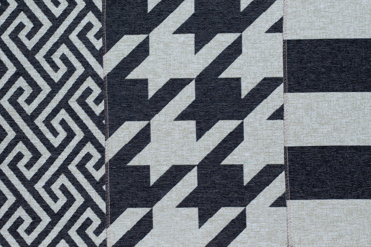 Гобелен Geometry Black для заказа пуфиков и подушек в RANGA Performance