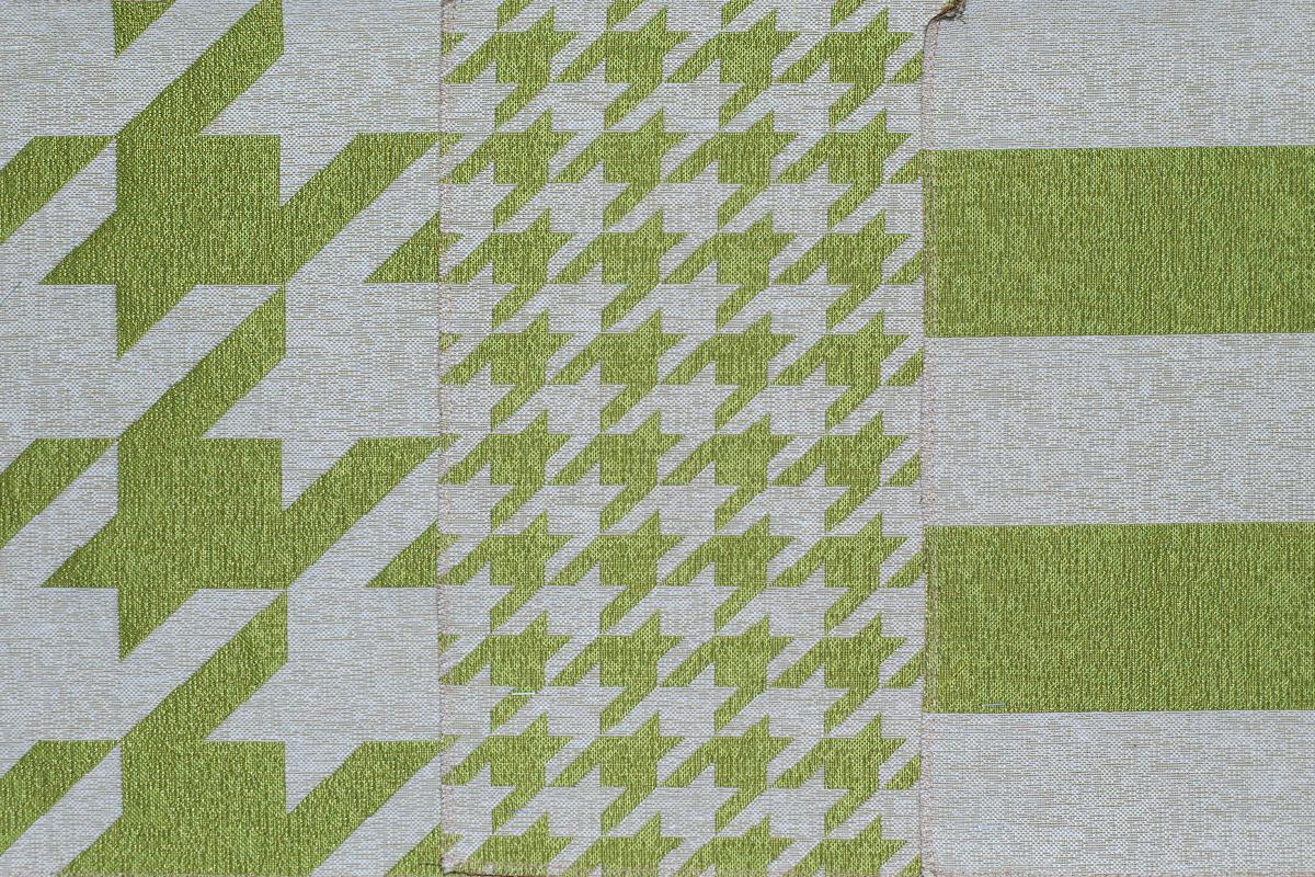 Гобелен Geometry Green для заказа пуфиков и подушек в RANGA Performance