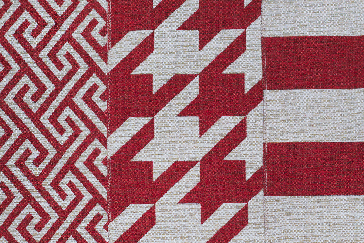 Гобелен Geometry Red для заказа пуфиков и подушек в RANGA Performance