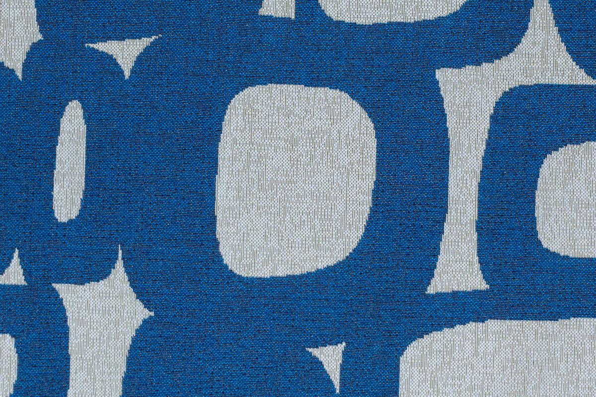 Гобелен Oval Blue для заказа пуфиков и подушек в RANGA Performance