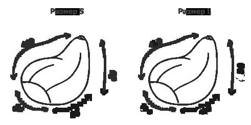 Размер бескаркасных кресел-мешков серии Bag