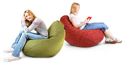 Варианты использование кресла-пуфика серии Bag