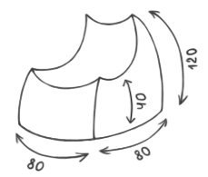 Размер кресла-пуфика серии Bar