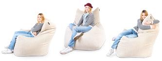 Варианты использование кресла-пуфика серии Bar