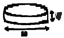 Размер пуфика серии Drum