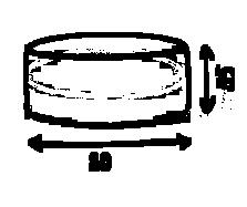 Размер круглого пуфика серии Drum