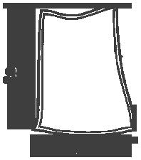 Размер бескаркасного кресла-подушки серии Pad