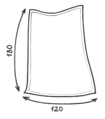 Размер кресла-пуфика серии Pad