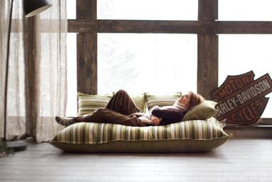 Бескаркасное кресло-подушка серии Pad