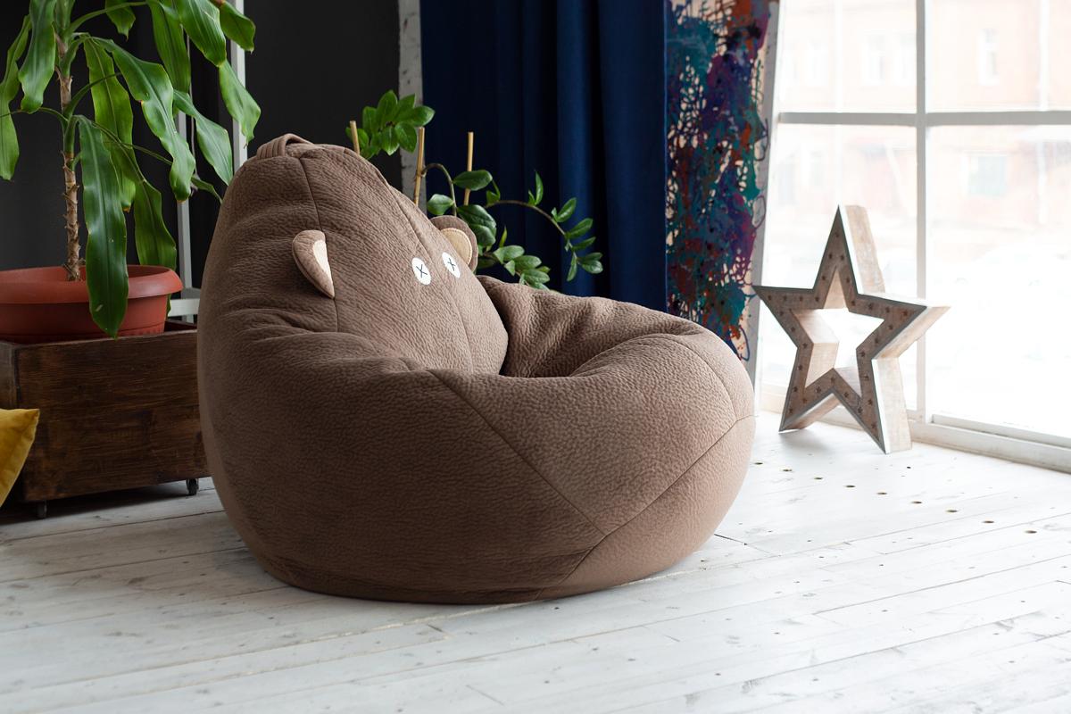 Кресло-мешок бинбэг с уникальным дизайном Медвежонок