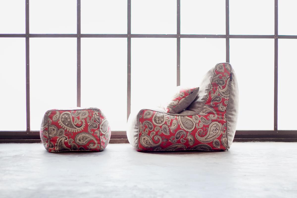 Уникальный комплект бескаркасной мебели, который невозможно повторить в таком дизайне