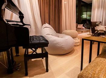 Большое кресло-груша из скандинавской рогожки, Москва