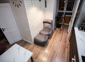Уменьшенный в ширину комплект бескаркасной мебели Seat из велюра, ТиНАО