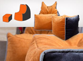Комплект бескаркасной мебели на заказ