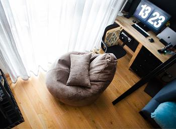 Кресло-груша размера L с подушкой, Одинцово
