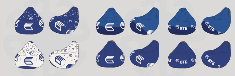 Дизайн кресел-груш для ВТБ